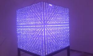 Cube with Purple Gel